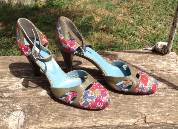 floral print high heel shoes
