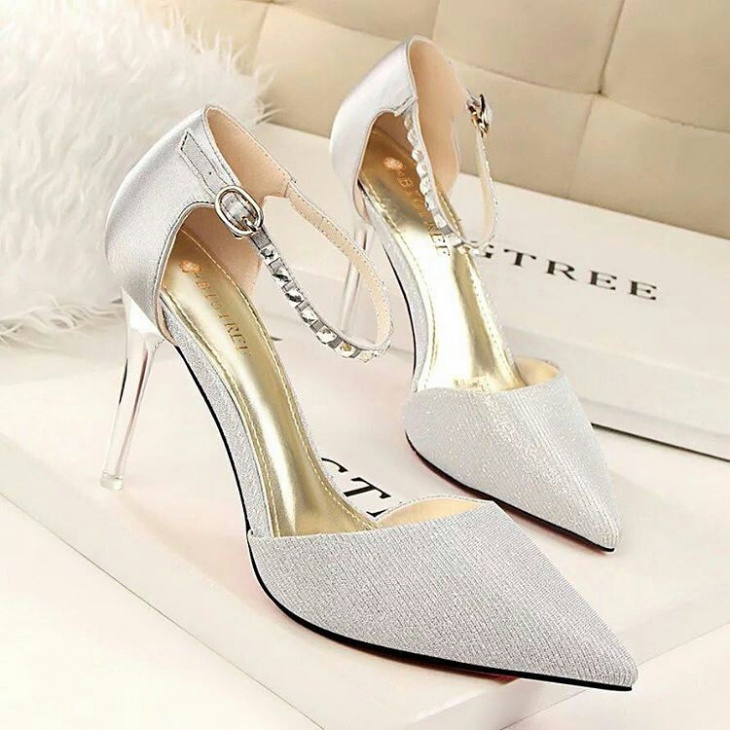 high heel wedding shoes idea