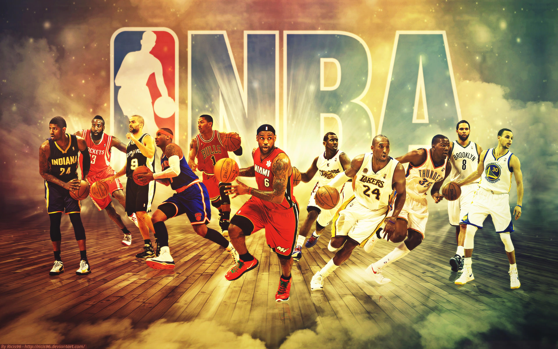 Basketball Teams Background