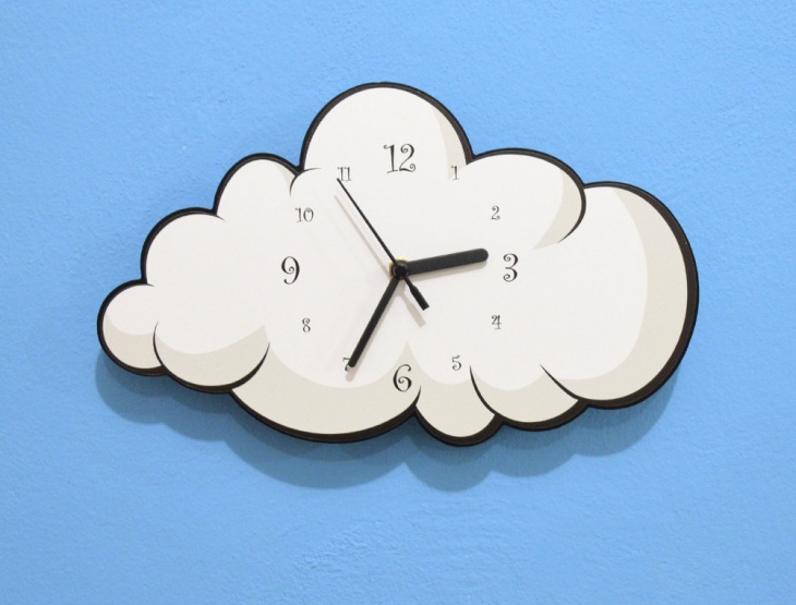 Handmade Cloud Wall Clock Design
