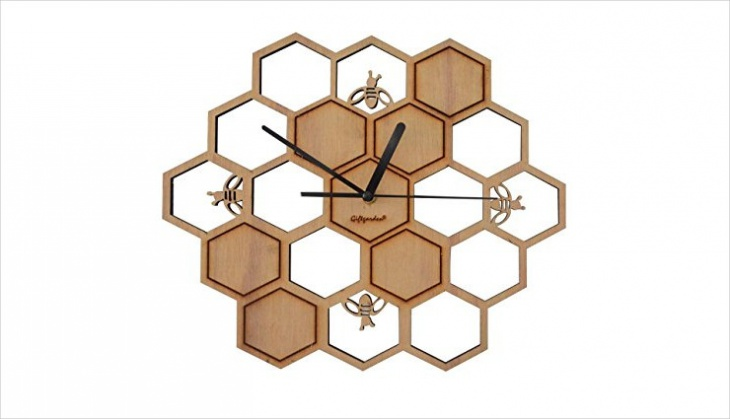 Handmade Honeycomb Design Wall Clock
