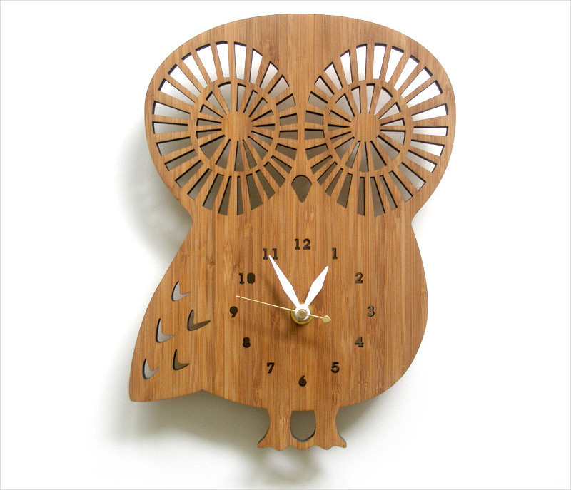 handmade wooden wall clock design