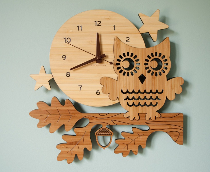 handmade bamboo wood wall clock