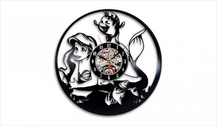 Little Mermaid Wall Clock Design