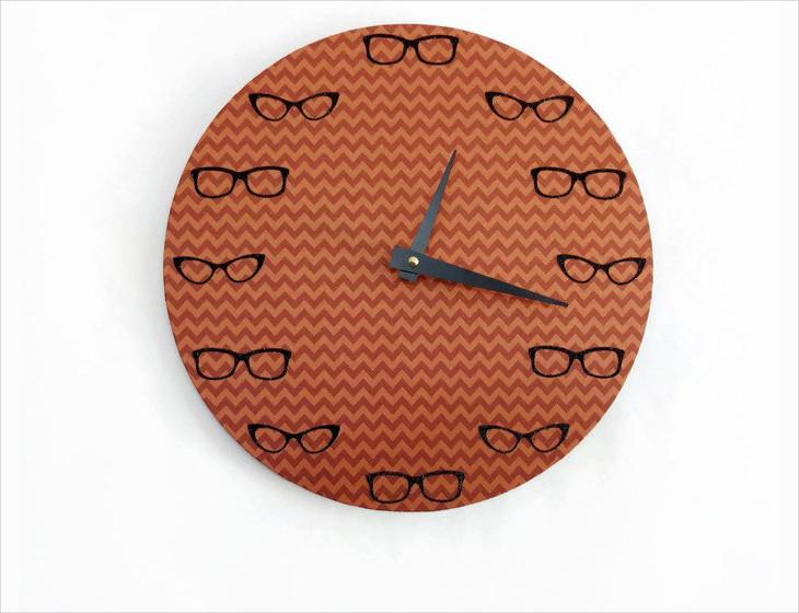 retro style handmade wall clock