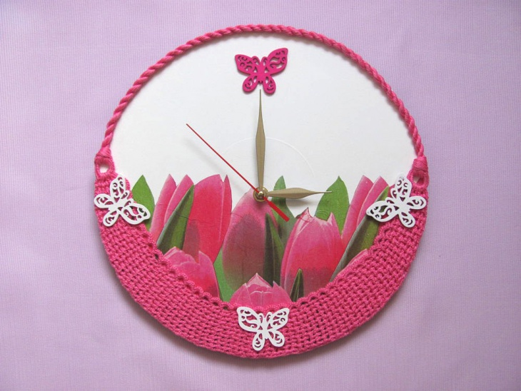 handmade wall clock for kids room