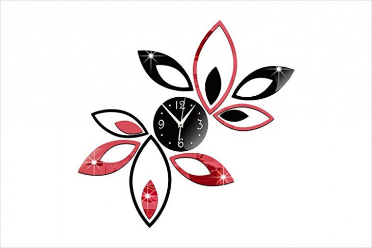 handmade 3d wall clock design