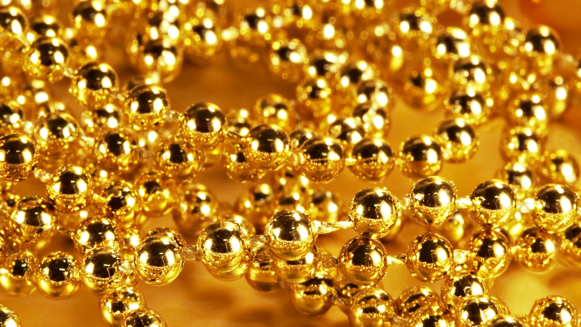 Gold Beads Background
