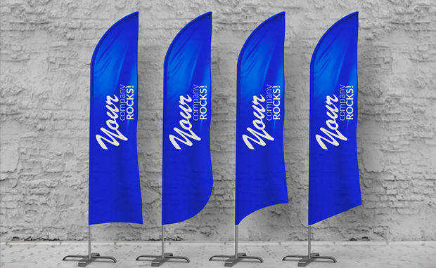 Feather Flag Mockup
