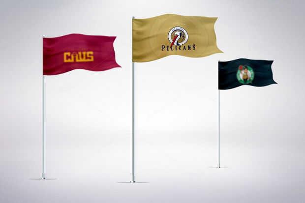 Branding Flag Mockup