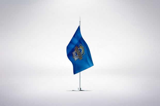 3D Flag Mockup PSD