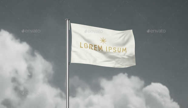 Realistic Flag Mockup Design