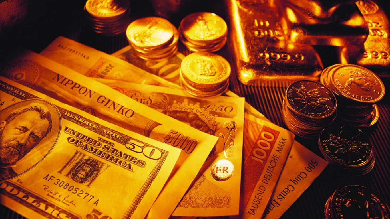 Gold Bullion Currency Background