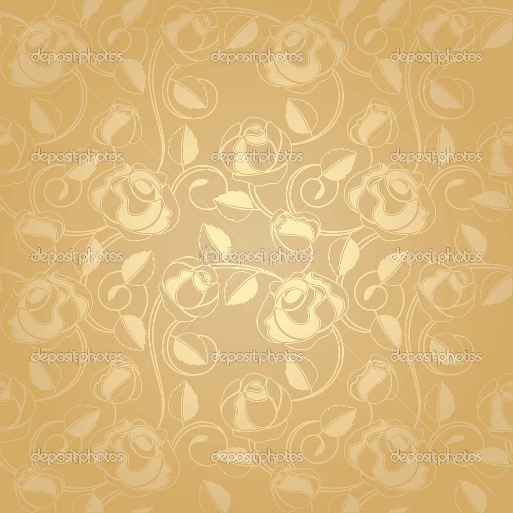 Floral Gold Background