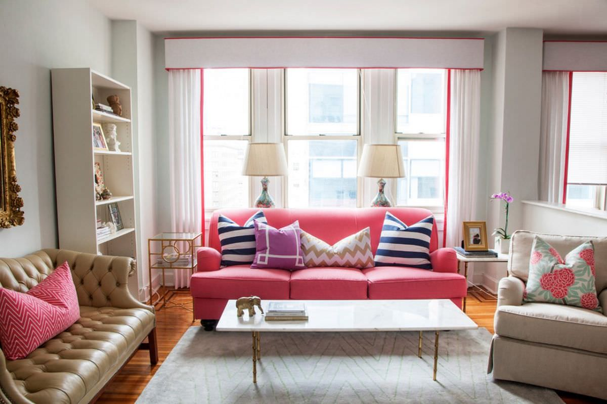 Pink sofa living room designs design trends - Pink living room decorating ideas ...