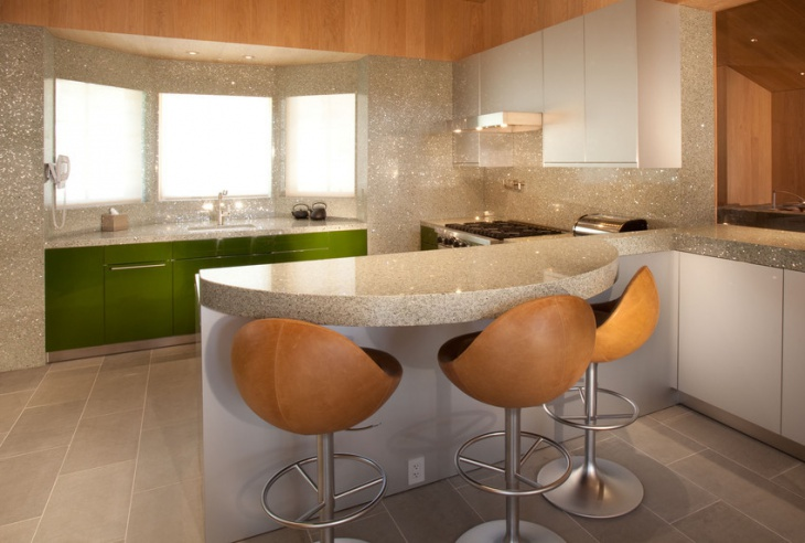 cool sparkle wall design for kitchen