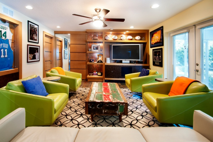 Eclectic Family Room Furniture