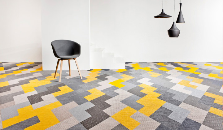 Contemporary Colorful Floor Design