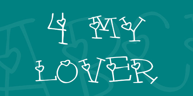 For My Lover Font