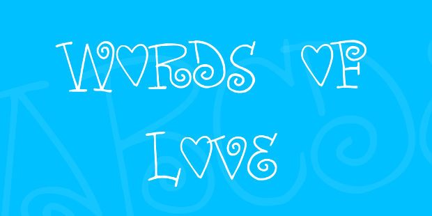 words of love font