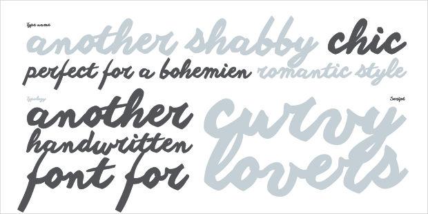 Shabby Romantic Font