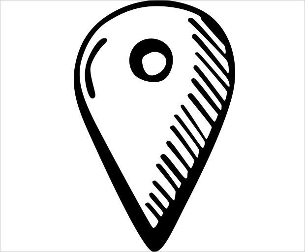 Hand Drawn Map Pin Icon