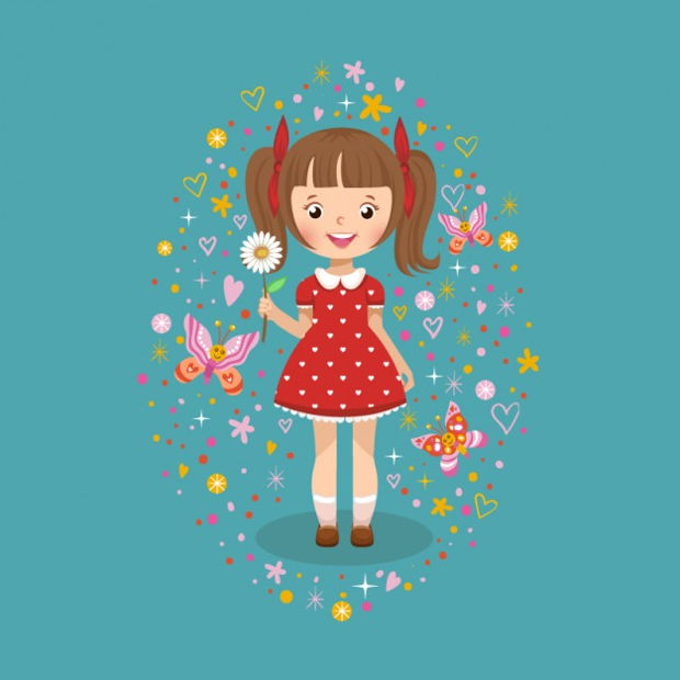 girl with daisy vector