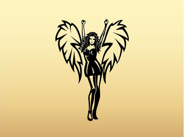 winged girl vector