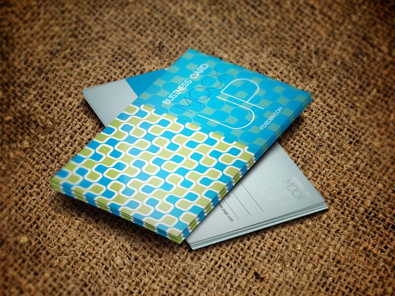 Glossy Business Card Mockup