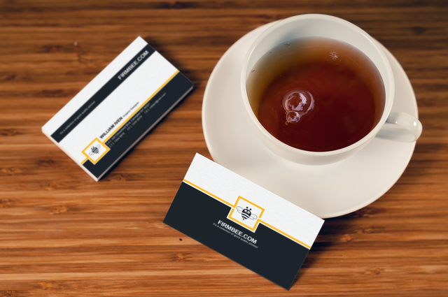 Business Card with Cup Mockup