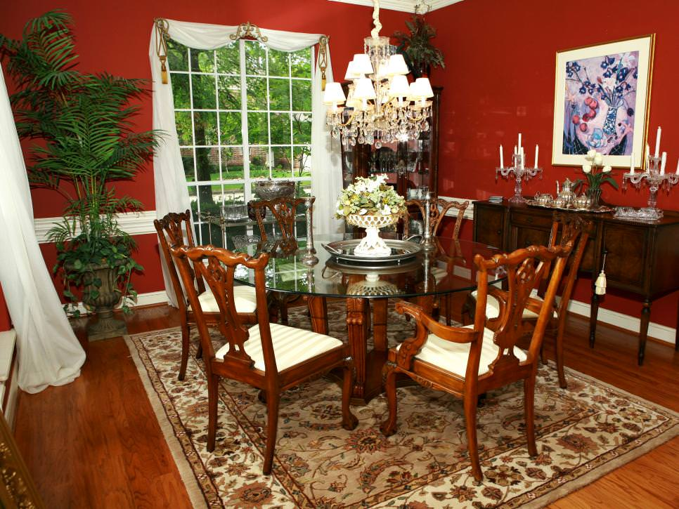 Aplanalp Red Dining Room Design