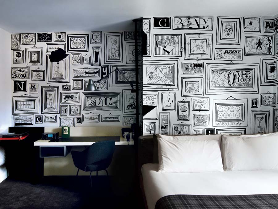Typographic Ace Wall Design