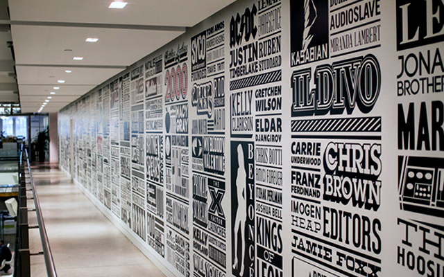 Typographic Creative Wall Design
