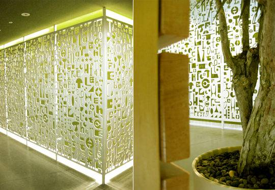 Typographic Wall Greenish Design