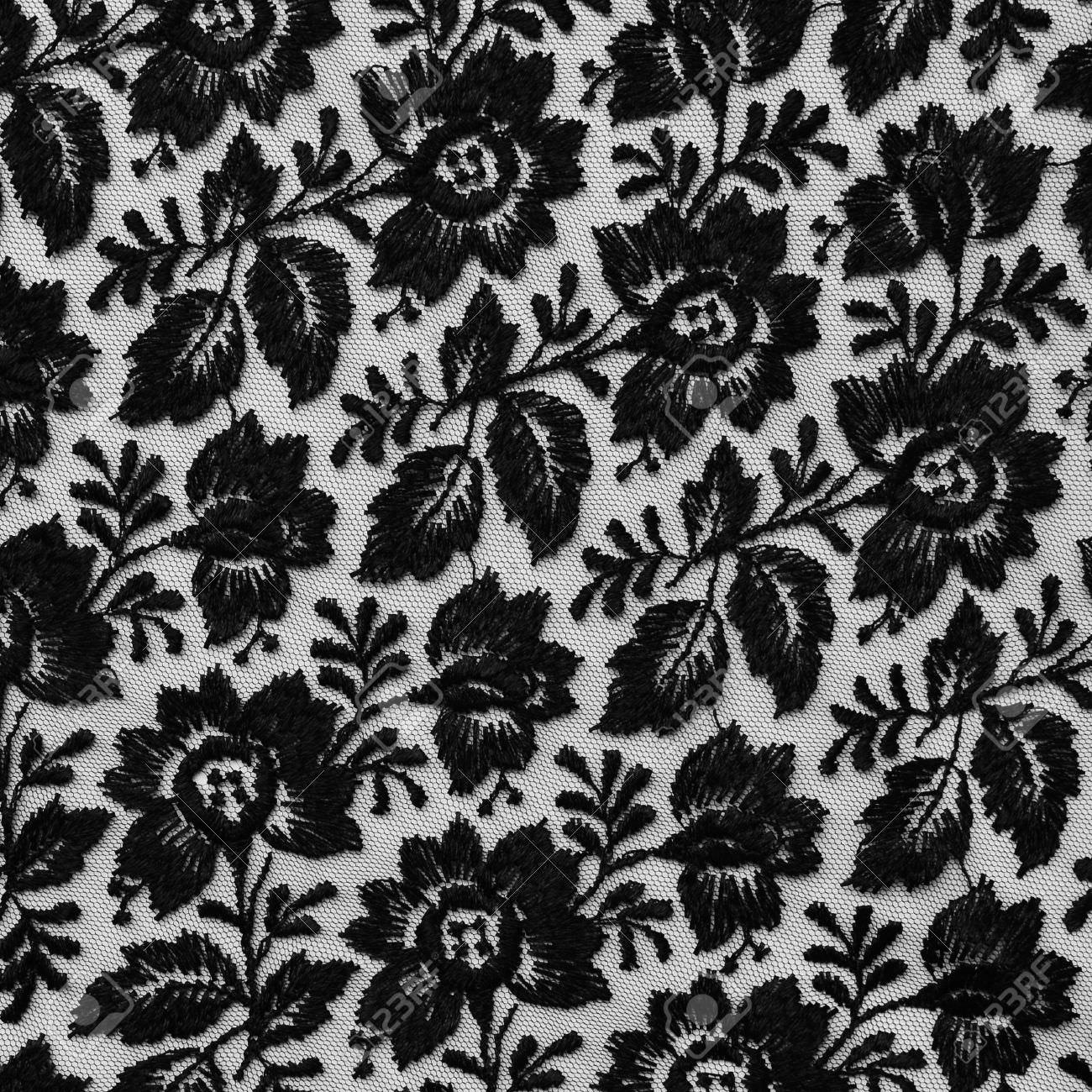 black lace fabric texture design