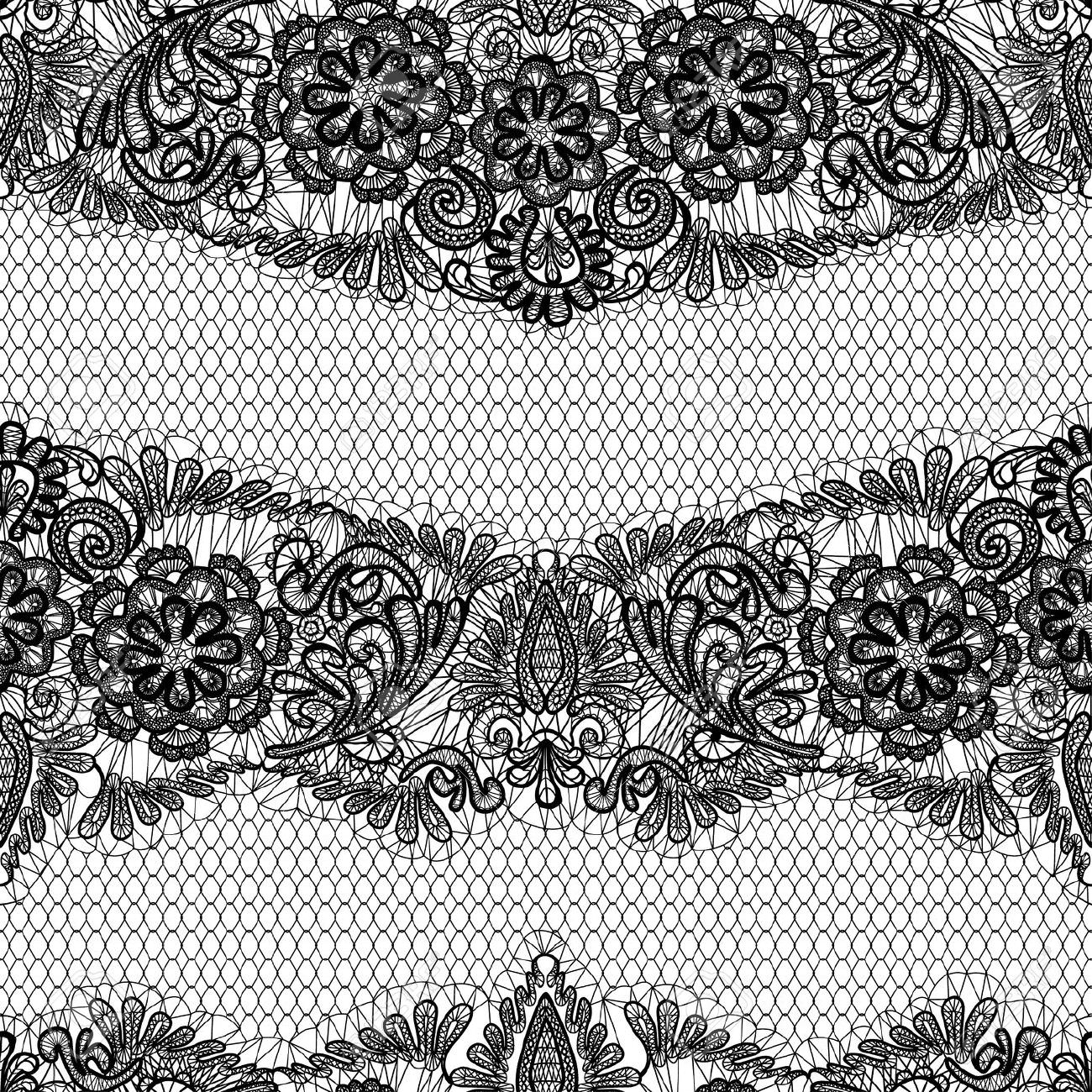 Black Lace Texture Design