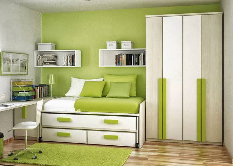 Small House Green Room Interior Design