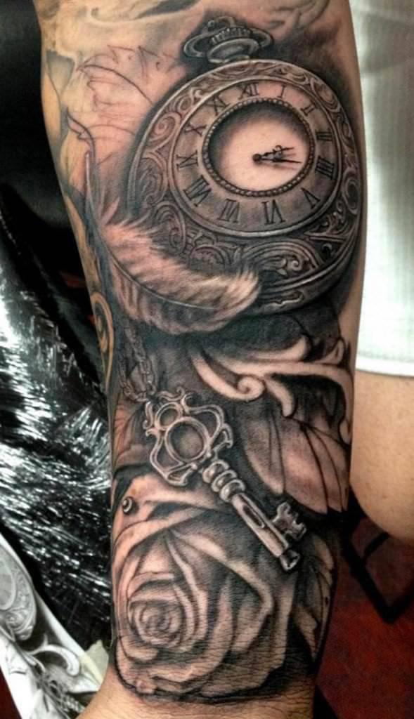 key n watch tattoo design