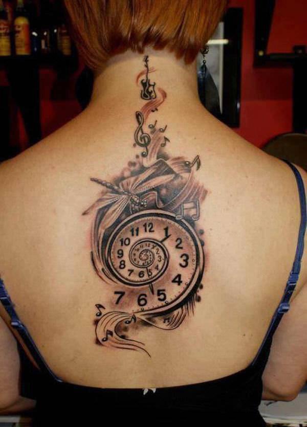 Spiral Watch Tattoo Design