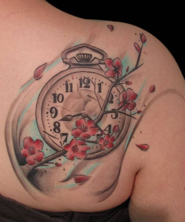 Watch Blossom Tattoo Design