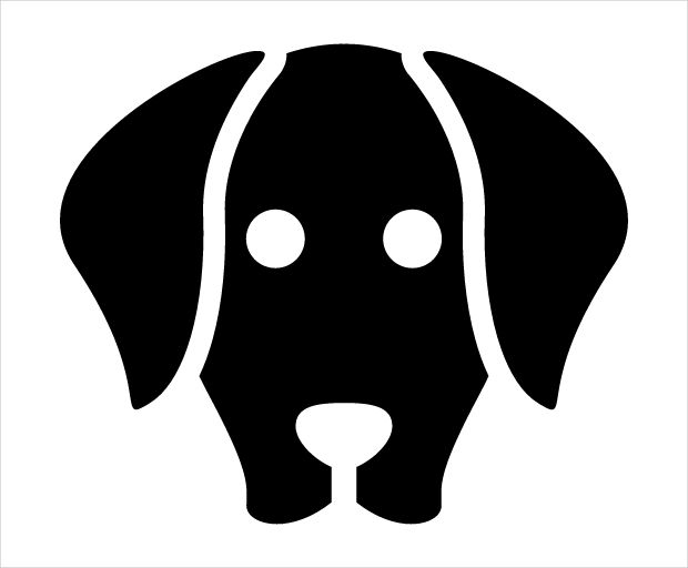 simple dog face icon