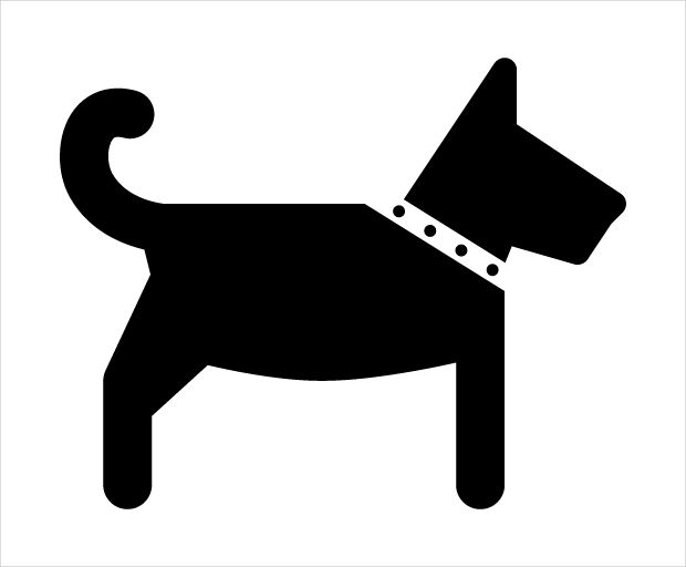 dog side view icon