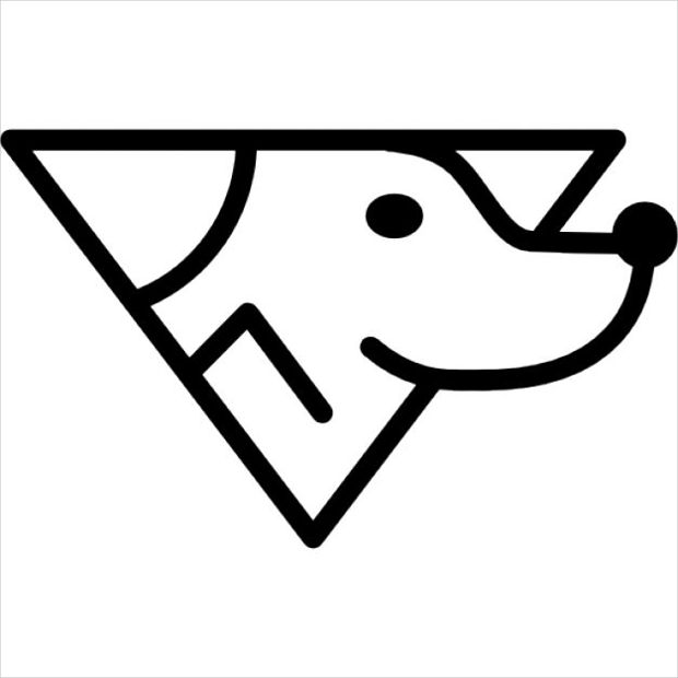 dog head outline icon