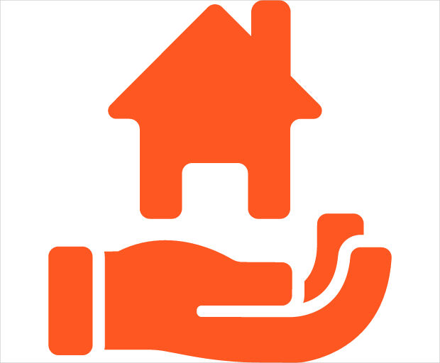 Real Estate House in Hand Icon