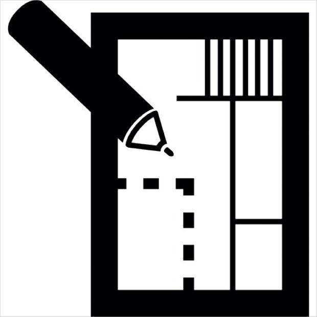 house plan real estate icon