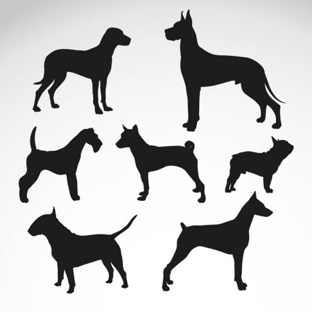 Dog Animal Silhouettes Vector