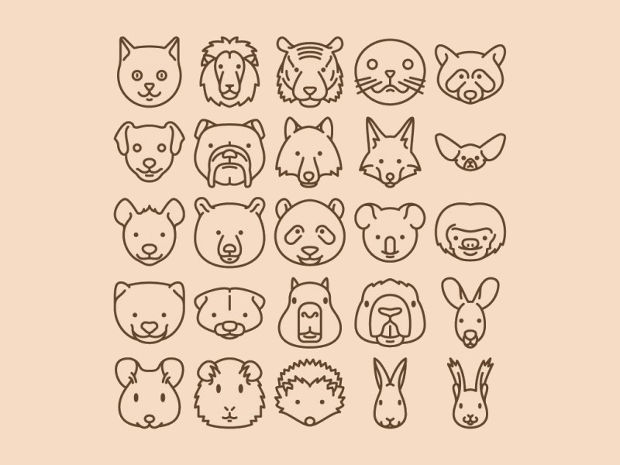Animal Icons Vector Set
