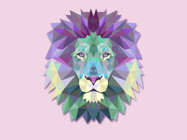 Triangle Vector Lion Illustration