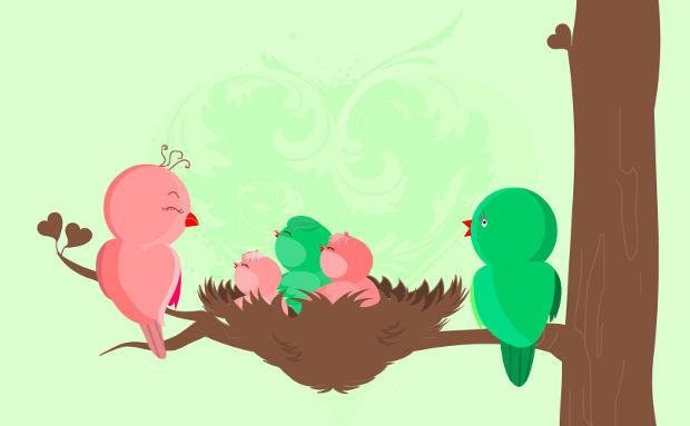 Baby Birds Vector