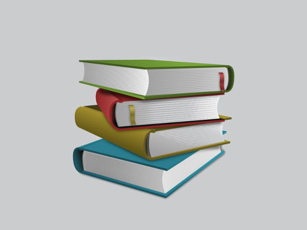 Stacked Book Vector